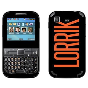 Виниловая наклейка «Lorrik» на телефон Samsung C3222 Duos