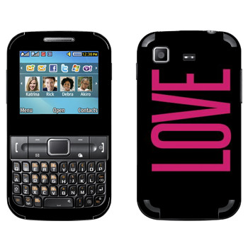 Виниловая наклейка «Love» на телефон Samsung C3222 Duos