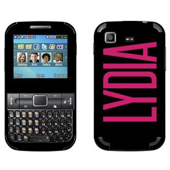Виниловая наклейка «Lydia» на телефон Samsung C3222 Duos