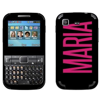 Виниловая наклейка «Maria» на телефон Samsung C3222 Duos