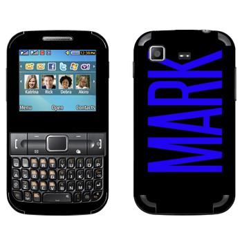 Виниловая наклейка «Mark» на телефон Samsung C3222 Duos