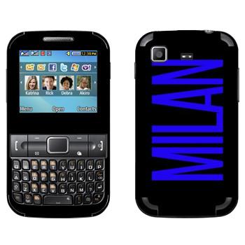 Виниловая наклейка «Milan» на телефон Samsung C3222 Duos