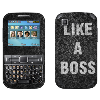 Виниловая наклейка «Надпись Like A Boss» на телефон Samsung C3222 Duos