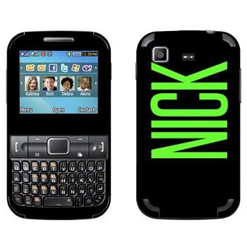 Виниловая наклейка «Nick» на телефон Samsung C3222 Duos