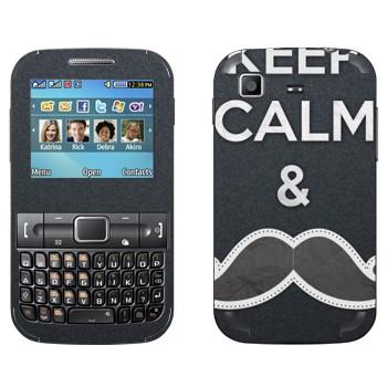 Виниловая наклейка «Носи усы» на телефон Samsung C3222 Duos
