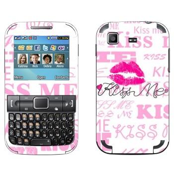 Виниловая наклейка «Поцелуй меня» на телефон Samsung C3222 Duos