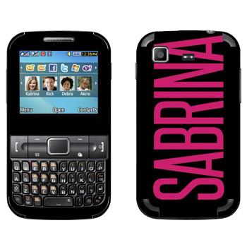 Виниловая наклейка «Sabrina» на телефон Samsung C3222 Duos