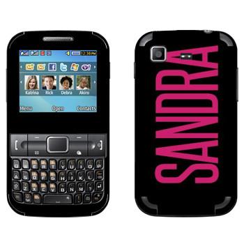 Виниловая наклейка «Sandra» на телефон Samsung C3222 Duos