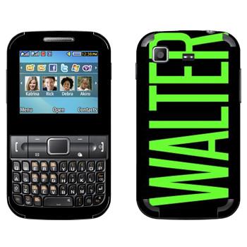Виниловая наклейка «Walter» на телефон Samsung C3222 Duos