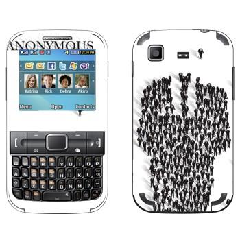 Виниловая наклейка «Anonimous» на телефон Samsung C3222 Duos