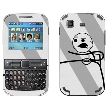 Виниловая наклейка «Cereal guy, парень с хлопьями» на телефон Samsung C3222 Duos