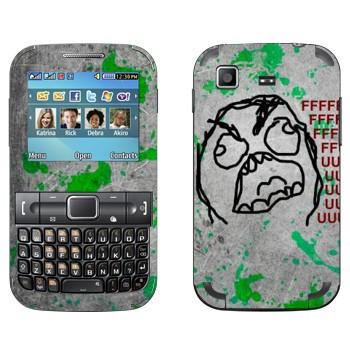 Виниловая наклейка «FFFFFFFuuuuuuuuu» на телефон Samsung C3222 Duos