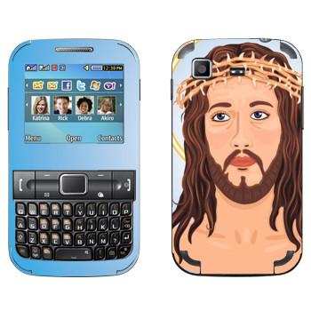 Виниловая наклейка «Jesus head» на телефон Samsung C3222 Duos