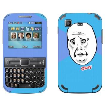 Виниловая наклейка «Okay Guy» на телефон Samsung C3222 Duos