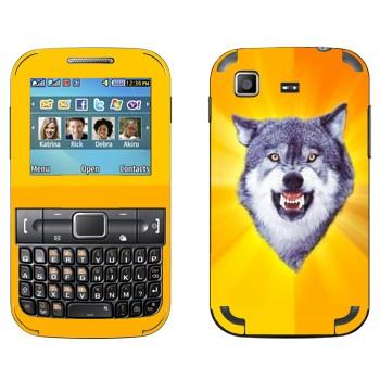 Виниловая наклейка «Дерзкий волк» на телефон Samsung C3222 Duos