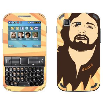 Виниловая наклейка «Голова Иисуса» на телефон Samsung C3222 Duos