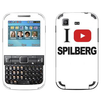 Виниловая наклейка «I love Spilberg» на телефон Samsung C3222 Duos