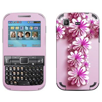 Виниловая наклейка «Крест из розовых цветов» на телефон Samsung C3222 Duos