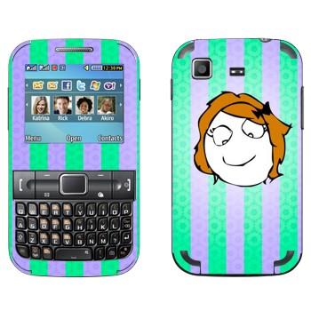 Виниловая наклейка «Мем Derpina» на телефон Samsung C3222 Duos
