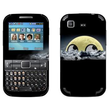 Виниловая наклейка «Мем выглядывающий смайл» на телефон Samsung C3222 Duos
