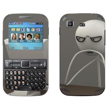 Виниловая наклейка «Мем за компом 3D» на телефон Samsung C3222 Duos