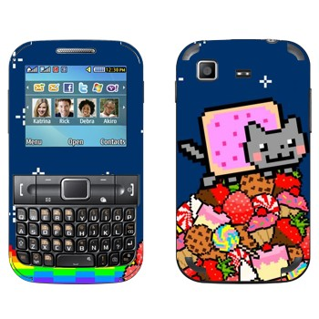 Виниловая наклейка «Нянь Кэт» на телефон Samsung C3222 Duos