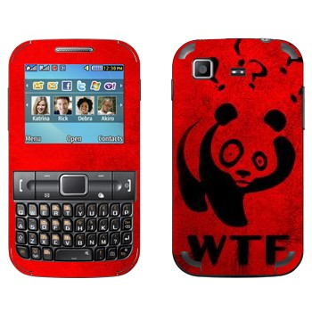 Виниловая наклейка «Панда - WTF?» на телефон Samsung C3222 Duos