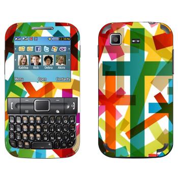 Виниловая наклейка «Разноцветные кресты» на телефон Samsung C3222 Duos