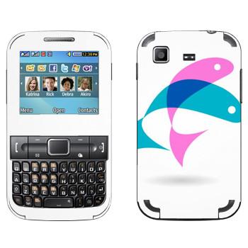 Виниловая наклейка «Рыбки Иисуса» на телефон Samsung C3222 Duos