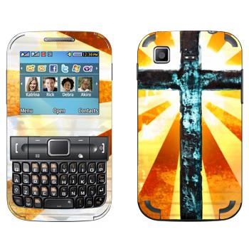 Виниловая наклейка «Сияющее распятие» на телефон Samsung C3222 Duos