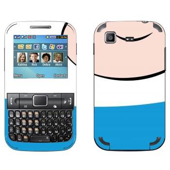 Виниловая наклейка «Finn the Human - Adventure Time» на телефон Samsung C3222 Duos