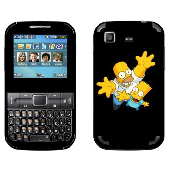 Виниловая наклейка «Барт и Гомер Симпсоны» на телефон Samsung C3222 Duos