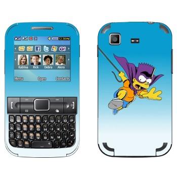 Виниловая наклейка «Барт супергерой» на телефон Samsung C3222 Duos