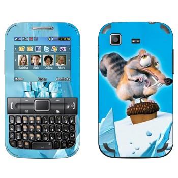 Виниловая наклейка «Белка с орехом из Ледникового периода» на телефон Samsung C3222 Duos