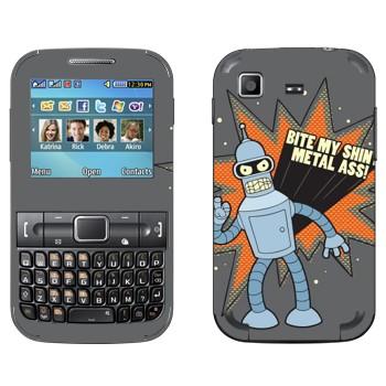 Виниловая наклейка «Бендер  - Футурама» на телефон Samsung C3222 Duos