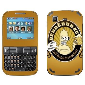Виниловая наклейка «Бендер: Let's Get Drunk!» на телефон Samsung C3222 Duos