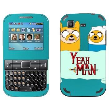 Виниловая наклейка «Финн и Джейк - Adventure Time» на телефон Samsung C3222 Duos