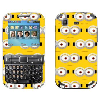 Виниловая наклейка «Глаза Миньона» на телефон Samsung C3222 Duos