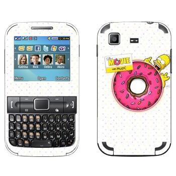 Виниловая наклейка «Гомер и гигантский пончик» на телефон Samsung C3222 Duos