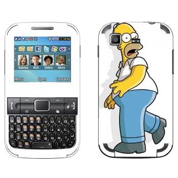 Виниловая наклейка «Гомер Симпсон испуган» на телефон Samsung C3222 Duos