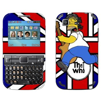 Виниловая наклейка «Гомер Симпсон с гитарой» на телефон Samsung C3222 Duos