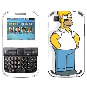 Виниловая наклейка «Гомер Симпсон» на телефон Samsung C3222 Duos