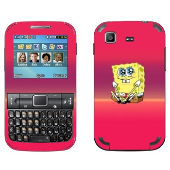 Виниловая наклейка «Губка Боб» на телефон Samsung C3222 Duos