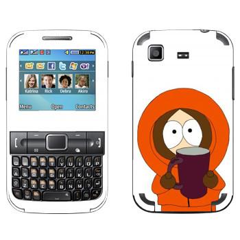 Виниловая наклейка «Кенни с кружкой - Южный Парк» на телефон Samsung C3222 Duos