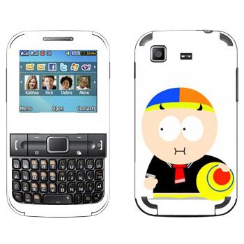 Виниловая наклейка «Мальчик с мячиком - Южный Парк» на телефон Samsung C3222 Duos