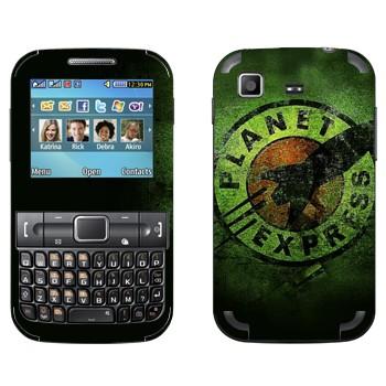 Виниловая наклейка «Межпланетный экспресс - логотип» на телефон Samsung C3222 Duos