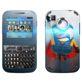 Виниловая наклейка «Миньон из стали» на телефон Samsung C3222 Duos