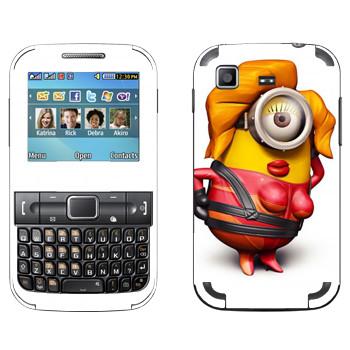Виниловая наклейка «Миньон красотка» на телефон Samsung C3222 Duos