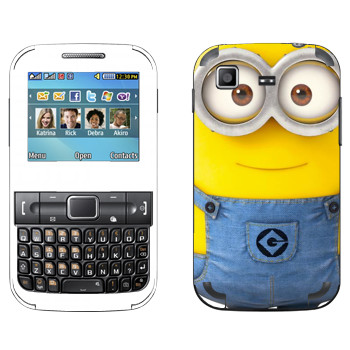 Виниловая наклейка «Миньон на весь телефон» на телефон Samsung C3222 Duos