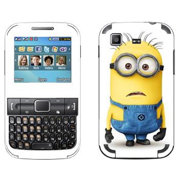 Виниловая наклейка «Миньон удивлен» на телефон Samsung C3222 Duos